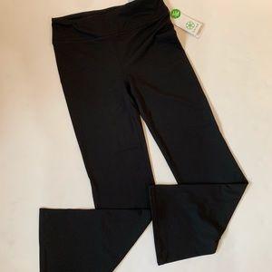 NWT Gaiam Om Yoga Pants size small, black. Flared